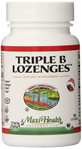Maxi Health Triple B Lozenges  Vitamin B12  B6  Biotin  Strawberry Flavor  90 Chewies  Kosher -- Check out this great product by click affiliate link Amazon.com