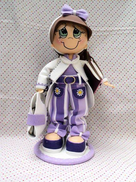 Boneca de EVA em 3D - Professora