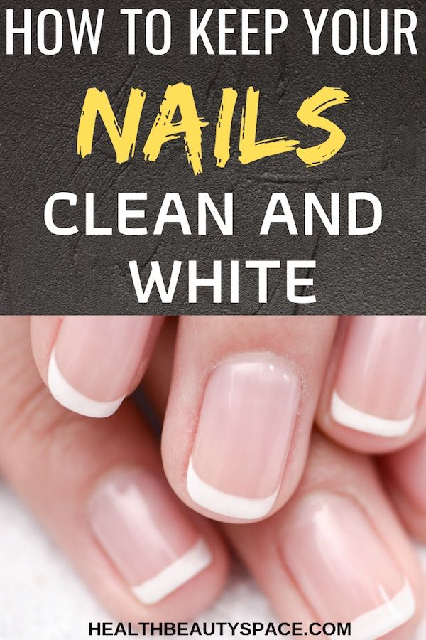 The Secrets To Always Keep Your Nails Clean And White Clean Nails Nails Design With Rhinestones White Gel Nails