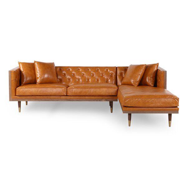 Leyla Mid Century Sectional Mid Century Sectional Leather Sectional Modern Leather Sectional