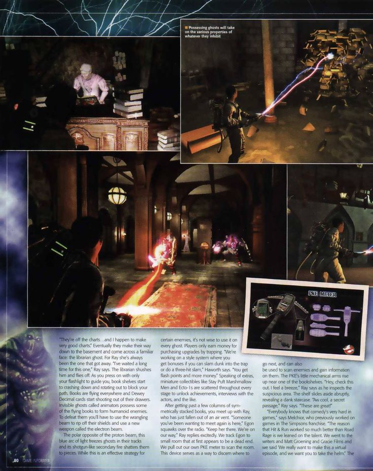 Game Informer article on Ghostbusters: The Video Game Page 80