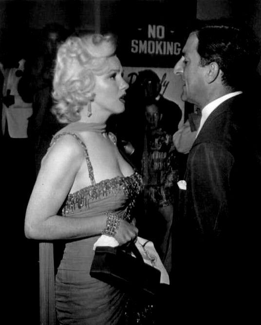 """Marilyn Monroe and Danny Thomas at the St. Jude's Hospital benefit, 1953. """