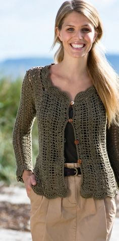 crochet cardigan by montse.esquivel.779