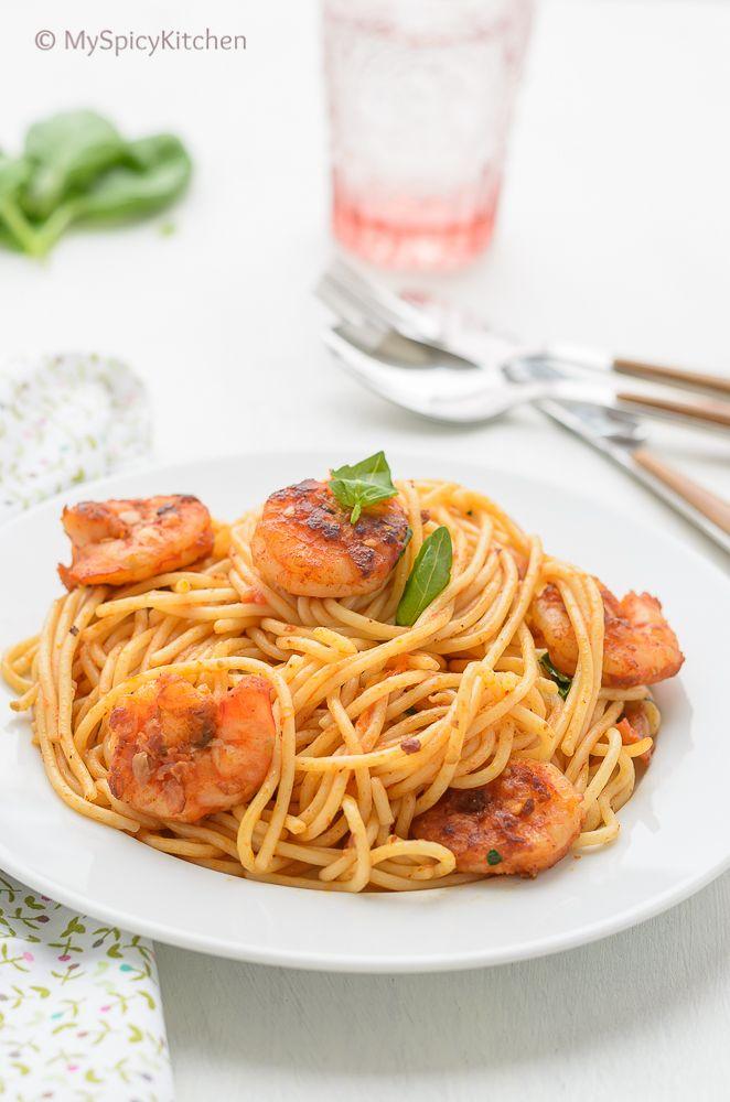 Spaghetti ai Gamberi ~ Spaghetti with Shrimp