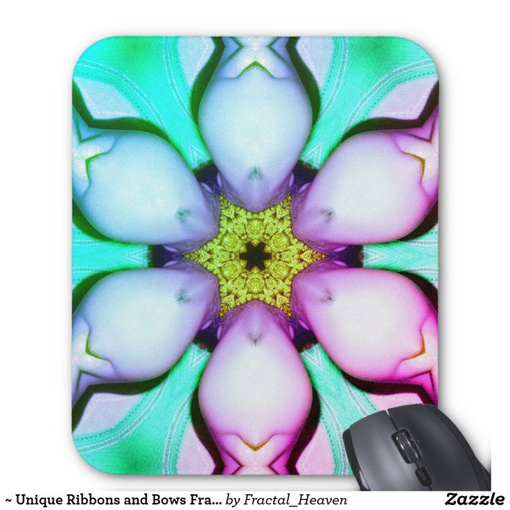 ~ Unique Ribbons and Bows Fractal ~ Mouse Pad
