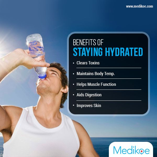 Staying hydrated is one of the most important ways to stay healthy. Here are the benefits of staying hydrated. #SummerTip #StayingHydrated