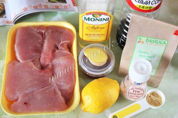 Стейк из индейки в медово-имбирном маринаде, рецепт с фото.