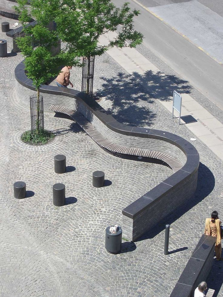 Bench/wall in Vanloese, Denmark by Aagaard Landskab. Click image for full profile and visit the slowottawa.ca boards >> http://www.pinterest.com/slowottawa/
