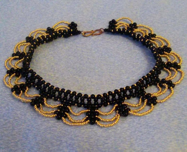 Free pattern for necklace Opera - more 2 needle netting from Beads Magic ~ Seed Bead Tutorials