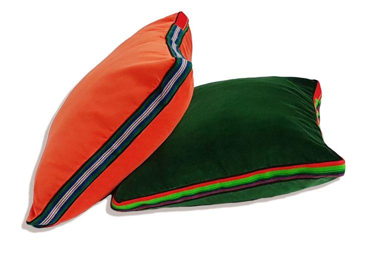 Large velvet pillows by Folka