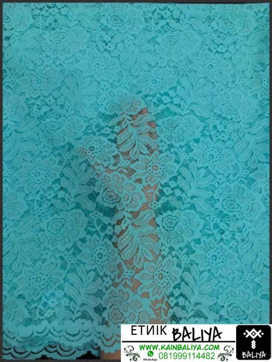 kain Kebaya semi Prancis Terbaru Warna Biru