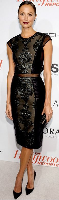 Who made Stacy Keibler's black dress?
