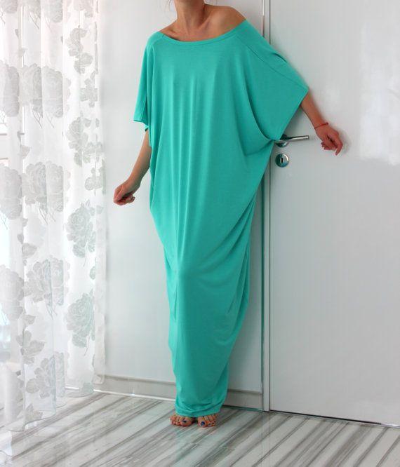 Mint Maxi dress Backless dress Caftan Abaya от cherryblossomsdress