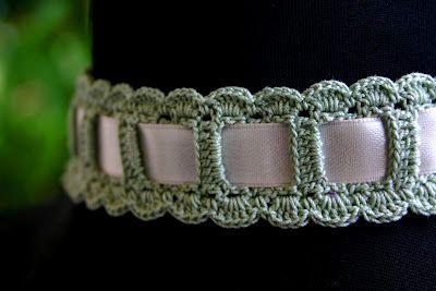 Halsband oder Haarband häkeln