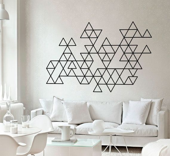 Geometric Mid Century Modern Decals  Triangles  by homeartstickers