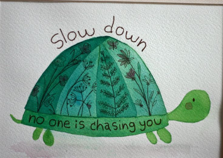 Original watercolor painting, turtle, inspirational, children's art, nursery art, whimsical, square matted art, pen and ink, green brown by TerraBlueArt on Etsy