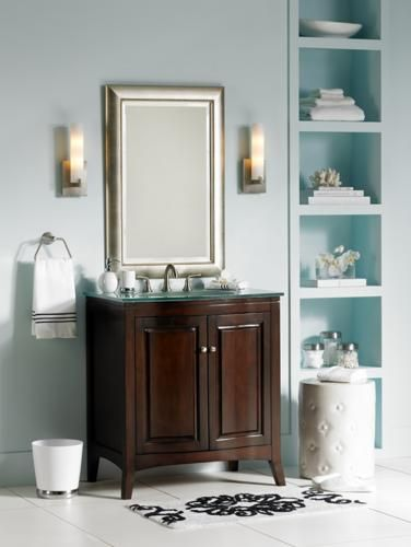 Pale blue is the perfect color for bathroom decor add a for Pale blue bathroom accessories