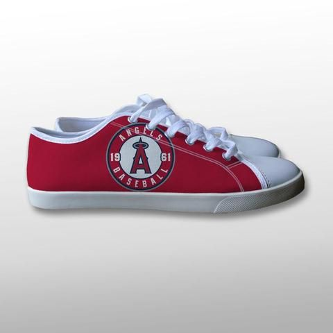 2009c0dc37236 Los Angeles Angels Logo Canvas Shoes – giftmug | SHOES in 2019 ...