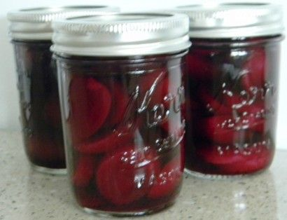 Perfect Pickled Beets! Because of the vinegar used in these, it is not necessary to use a pressure canner.