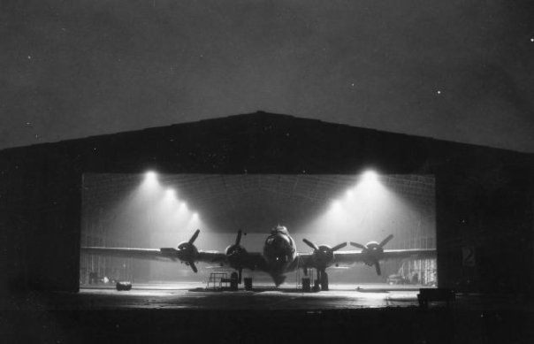 306th Bomb Group - Night time Hanger