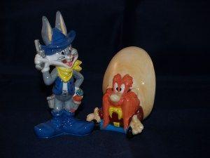 Bugs Bunny en cowboy Sam, peper en zoutstel, salt and pepper shakers, verzamelen, verzameling, cartoon