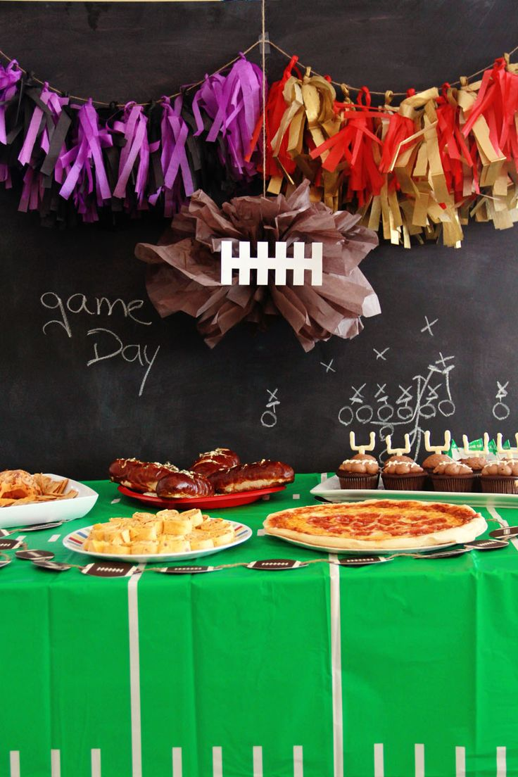 1000 images about nfl game day on pinterest games for Super bowl party items