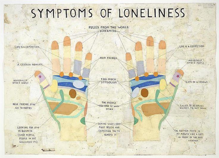 SIMON EVANS Symptoms of Loneliness, 2009 Pen, paper, scotch tape, correction fluid 28 1/2 X 39 3/8 inches