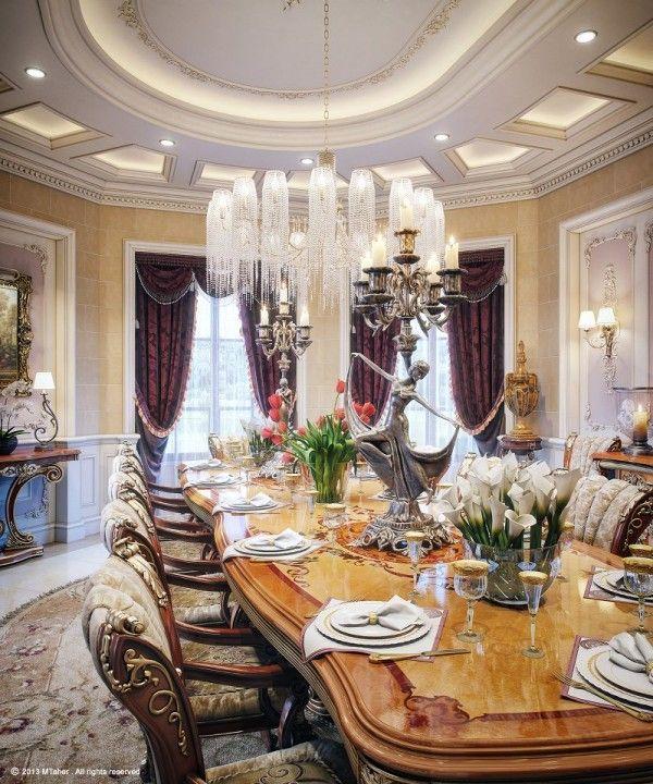 www.iHomeSanDiego.com Dining Room, Luxury Villa in Qatar