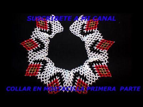 Collar en mostacilla primera parte - YouTube