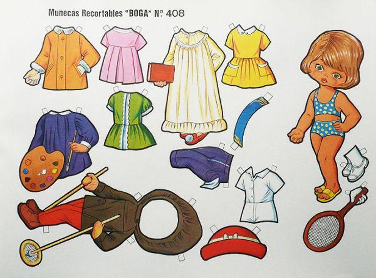 "muñecas recortables serie ""gemma"" ediciones boga | Talla/Medida"