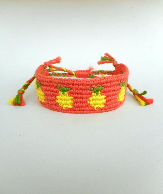 Pineapple friendship bracelet Summer Bracelet Pinapple jewelry