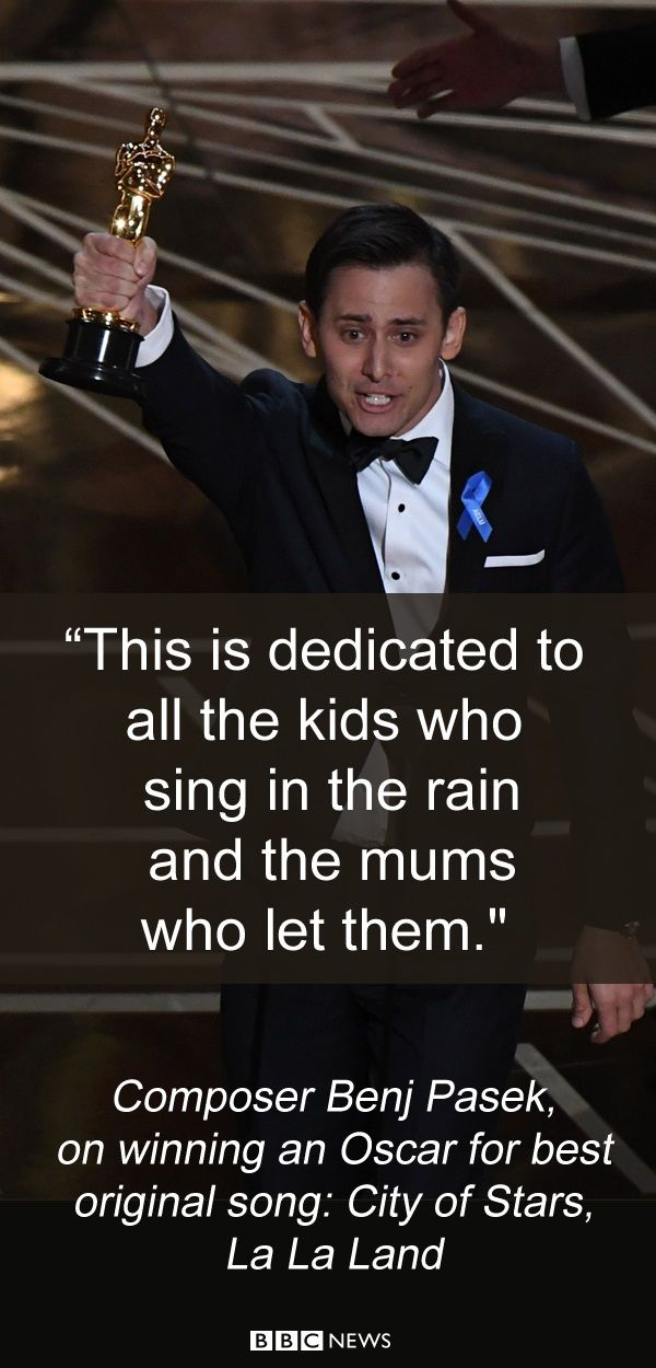 How the stars responded to their moment of glory at the Oscars.