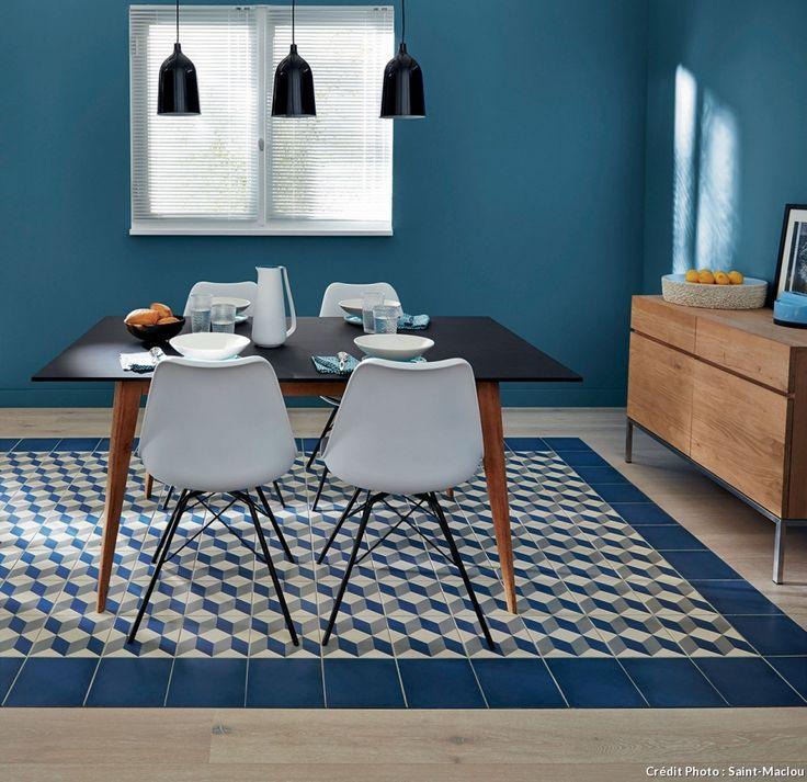 87 best carreaux de ciment images on pinterest tiles cement tiles and kitchen - Saint maclou tegelcement ...