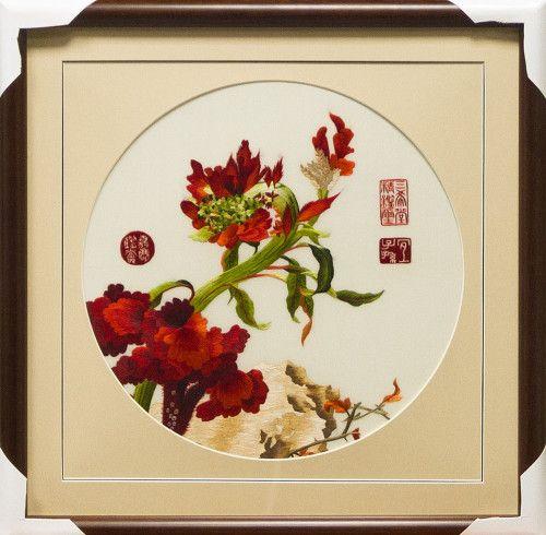 Картина, вышитая шёлком. Изящное искусство императорского художника  http://silklandia.ru/shop/krasnyj-cvetok