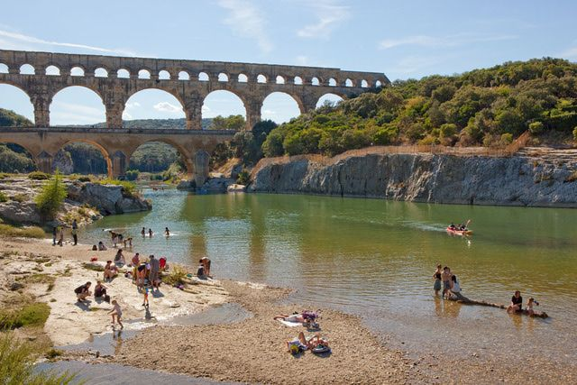 Top Roman Cities and Ancient Sites in France: The Gallo-Roman Pont du Gard in Gard, Languedoc