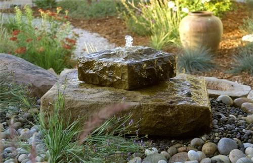 Rock Fountain, Garden Fountain  Fountain and Garden Pond  Grace Design Associates  Santa Barbara, CA