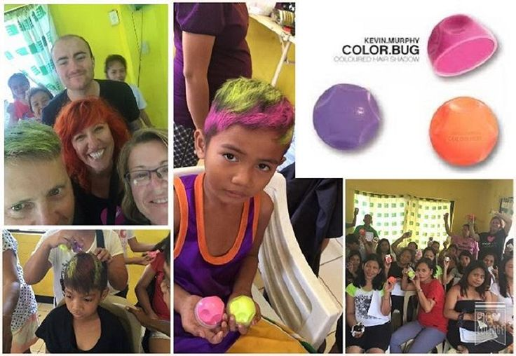 """""""We had so much fun playing with  @love_kevin_murphy Colour Bugs! The smile on the families' faces are precious. #headingouthairandbeauty #HOHB…"""""""