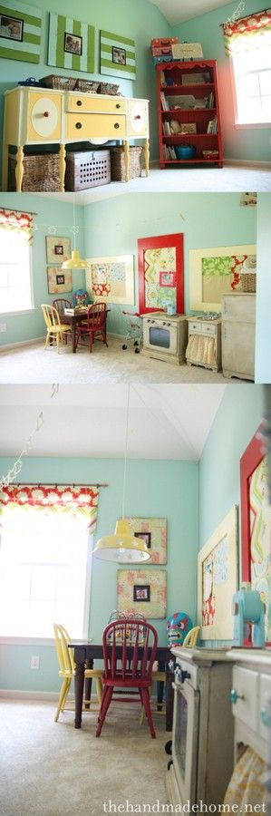Love the red and turquoise/teal- for Sophie's room.