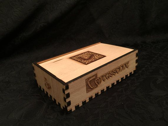 Laser Cut Carcassonne Board Game in by PercisionLaserCraft on Etsy