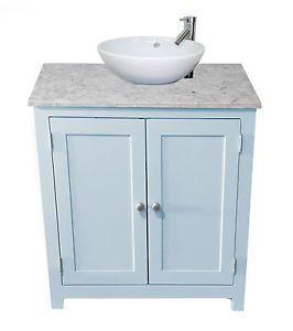 White Granite TOP Painted Vanity Unit 600mm Wide Bathroom Wash Stand Cabinet | eBay