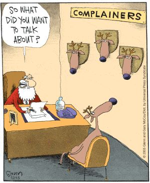 The Flying McCoys by Glenn and Gary McCoy ~ Christmas Humor ~ Santa & his Reindeer