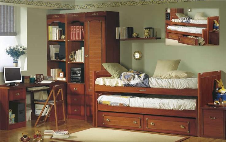 Camas compactas Dormitorio Juvenil Barco Java