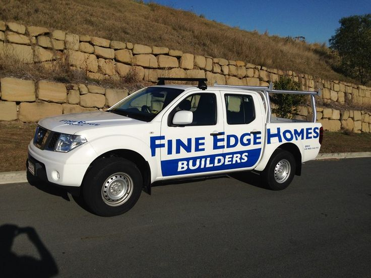 Vehicle Signage for Fine Edge Homes by Creations Group Pty Ltd