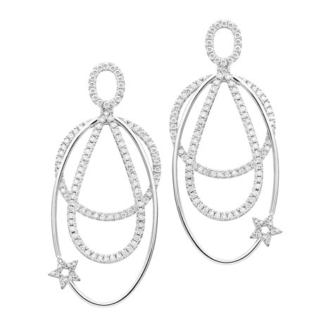 Jan Logan 18ct diamond LA earrings