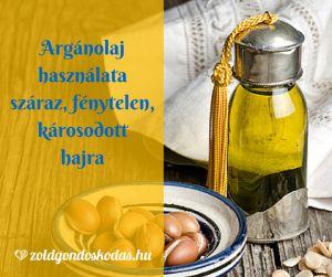 Argán olaj használata száraz fénytelen károsodott hajra