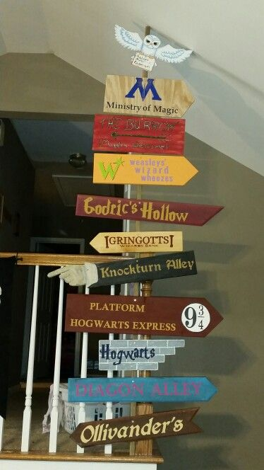 I would have this in my house or in front of it and no one would understand it unless they have red any of the Harry potter books or seen the movies