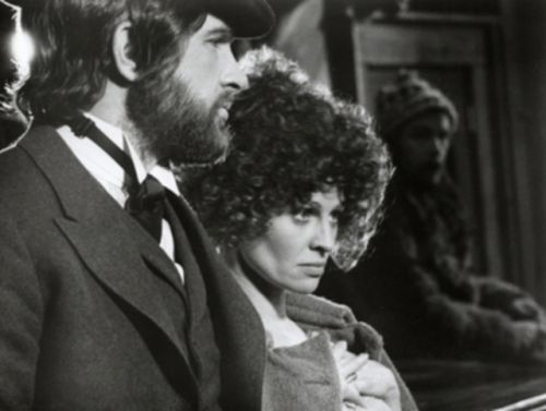 "Uncredited Photographer:   Warren Beatty and Julie Christie, Publicity Shot from Robert Altman's ""McCabe and Mrs Miller"" 1971"