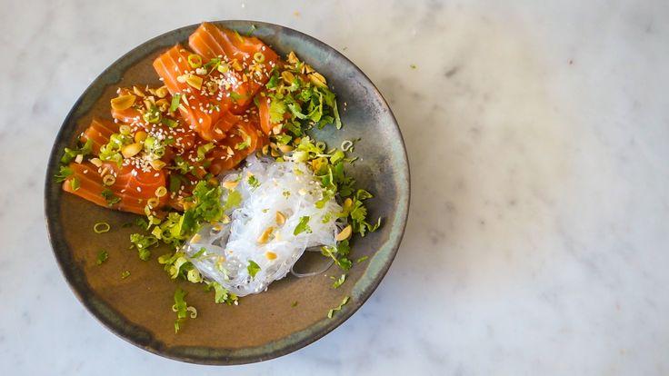 Mat för gamers: Lax sashimi med japansk sås