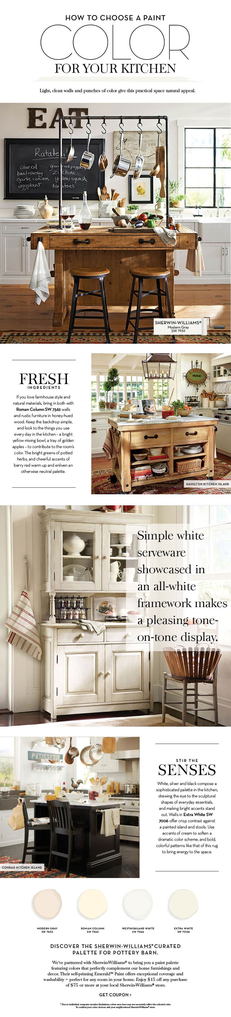 Choose a Paint Color For Your Kitchen   Pottery Barn