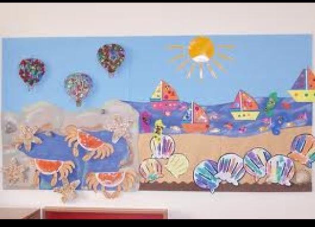 Seaside display.